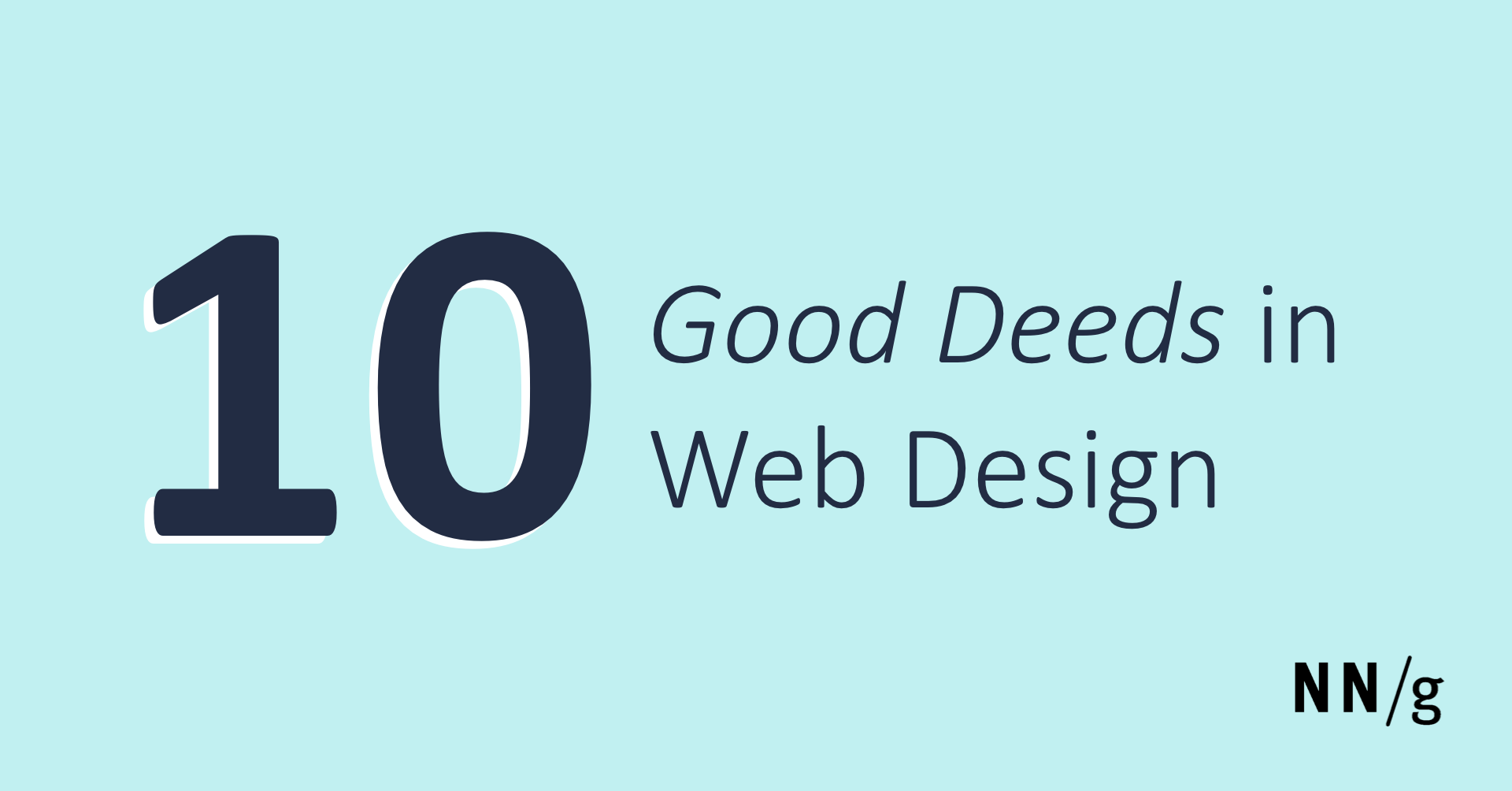 10 Good Deeds in Web Design