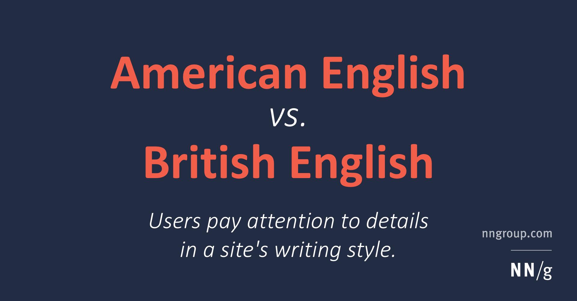 American English vs. British English for Web Content