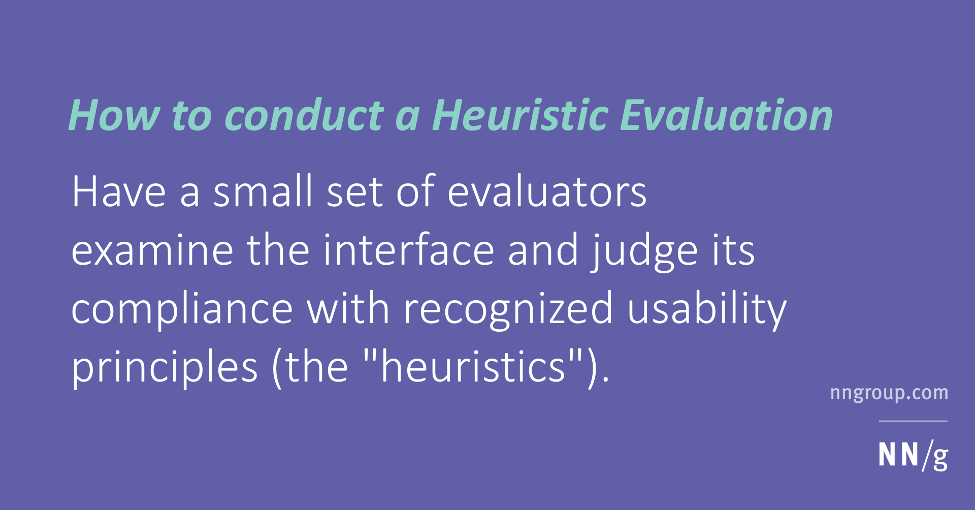 Finding Right Evaluator >> Heuristic Evaluation How To Article By Jakob Nielsen