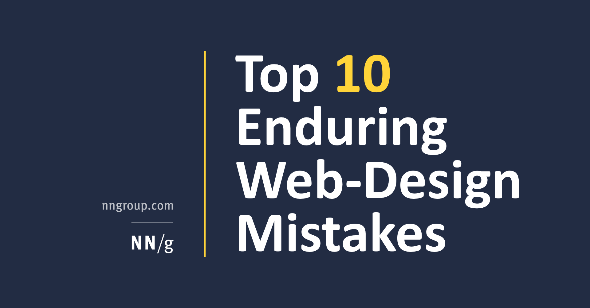 Ten Common Mistakes Parents Make During >> Top 10 Enduring Web Design Mistakes