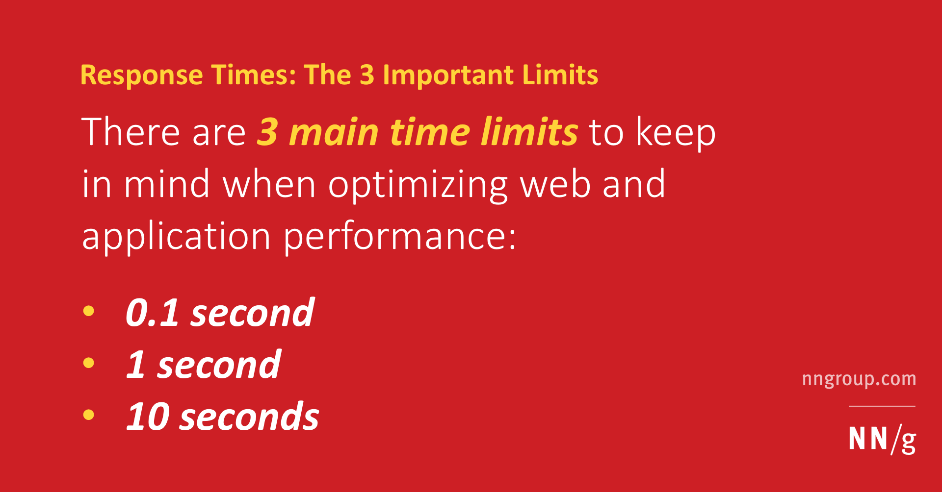 Response Time Limits: Article by Jakob Nielsen