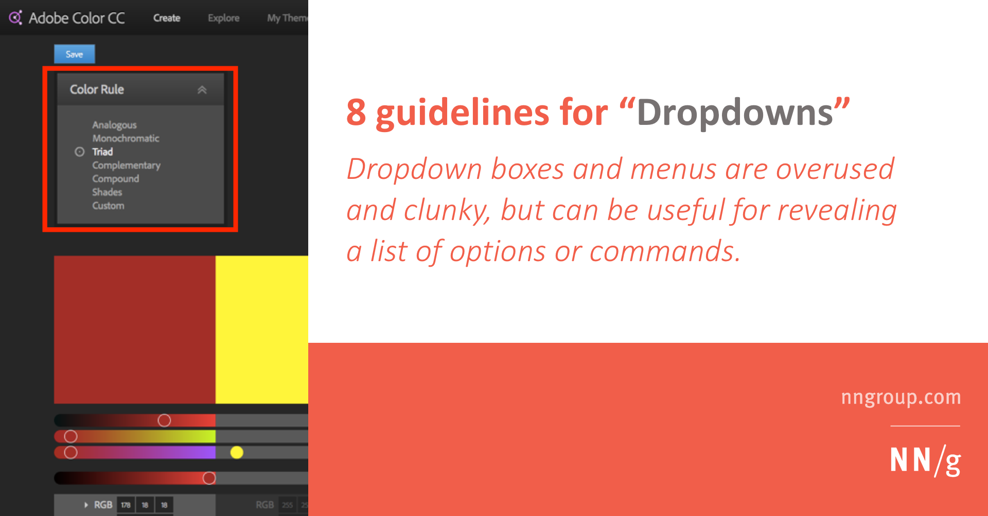 Dropdowns: Design Guidelines