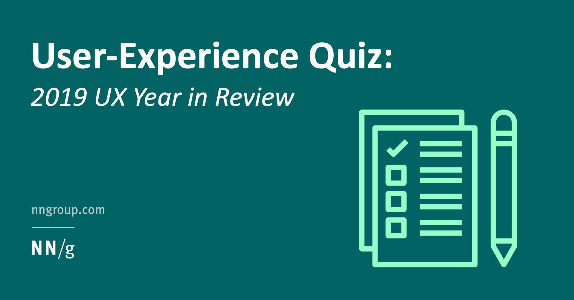User Experience Quiz
