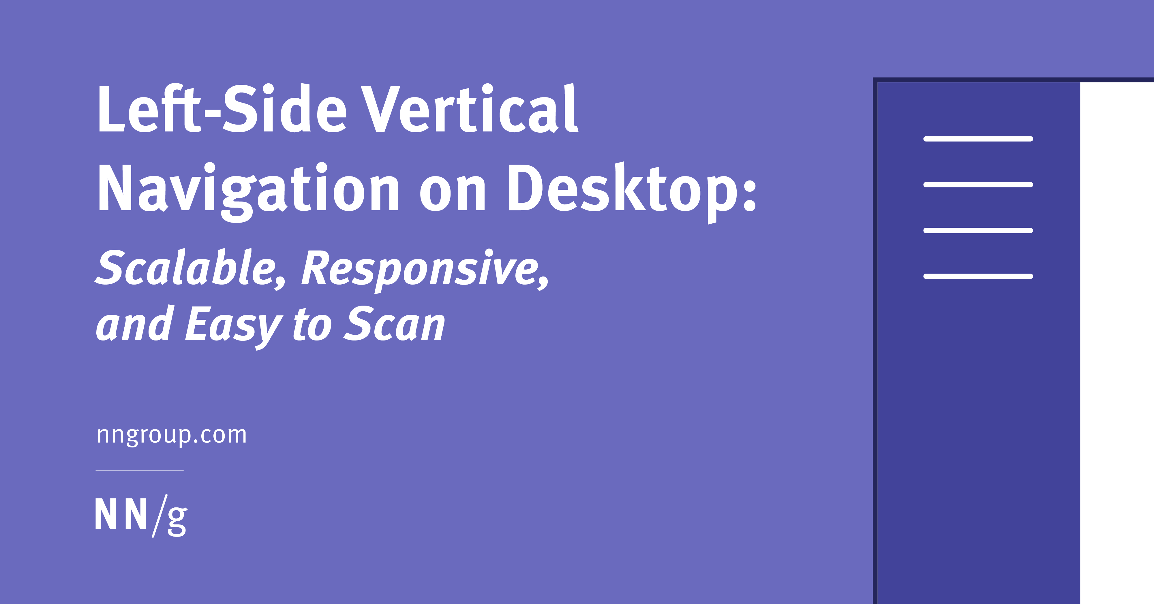 Left-Side Vertical Navigation on Desktop: Scalable, Responsive, and Easy to Scan