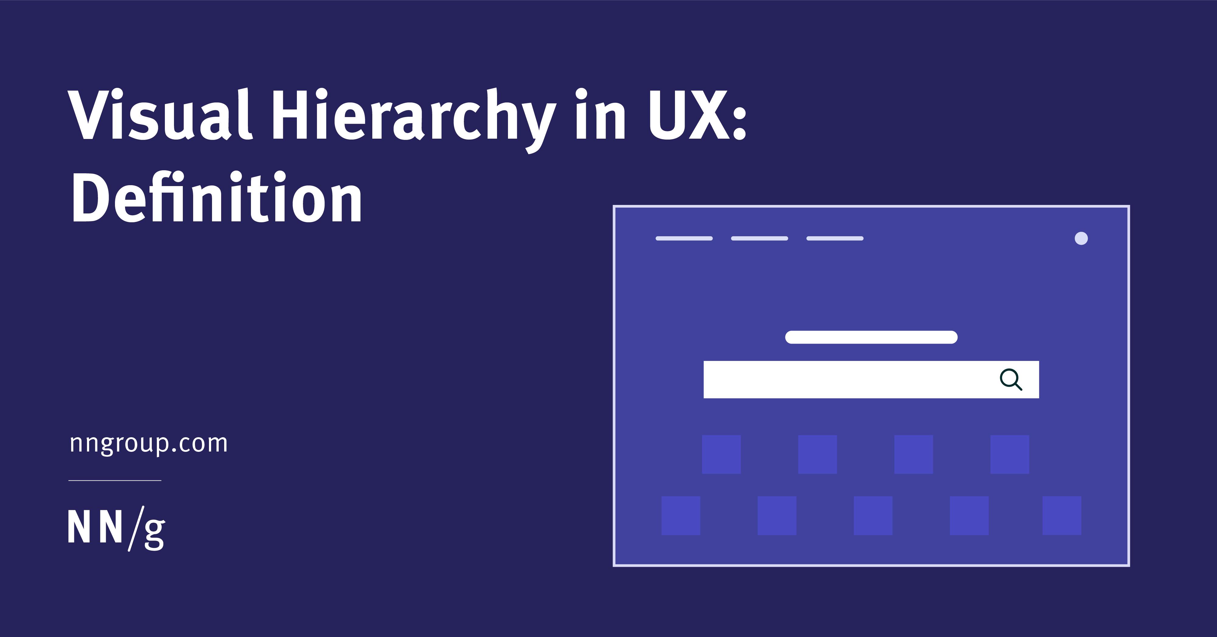Visual Hierarchy in UX: Definition