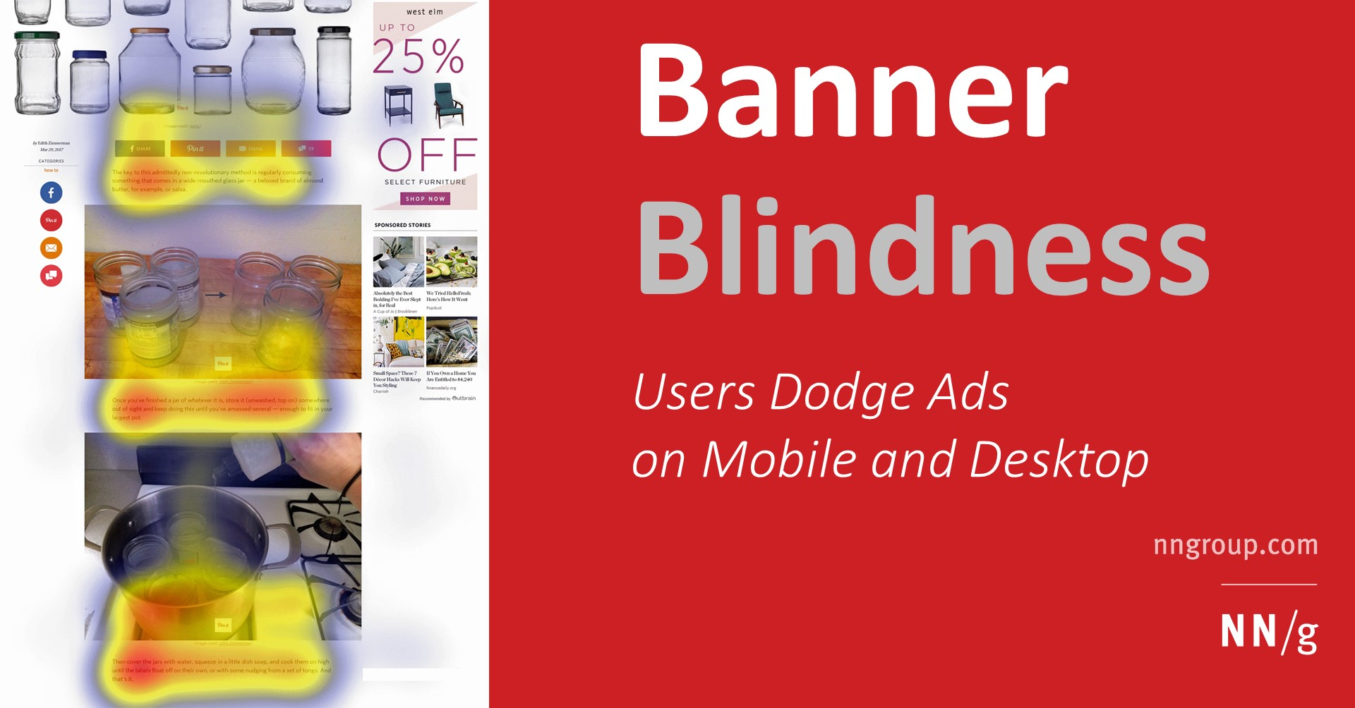 Banner Blindness Revisited: Users Dodge Ads on Mobile and