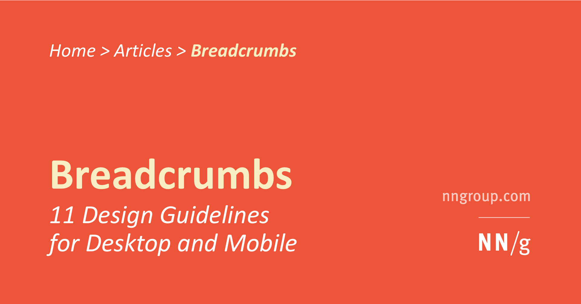Breadcrumbs 11 Design Guidelines For Desktop And Mobile