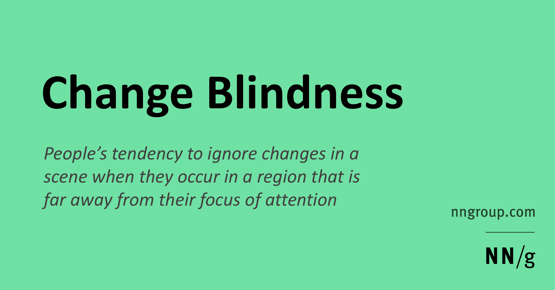 Change Blindness In Ux Definition