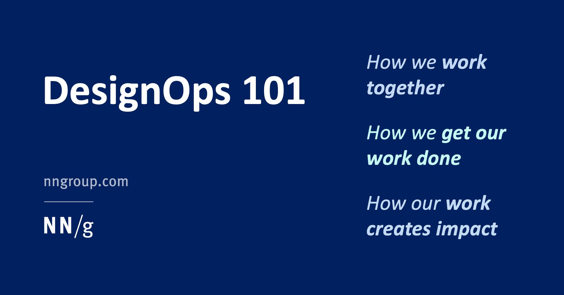 DesignOps 101