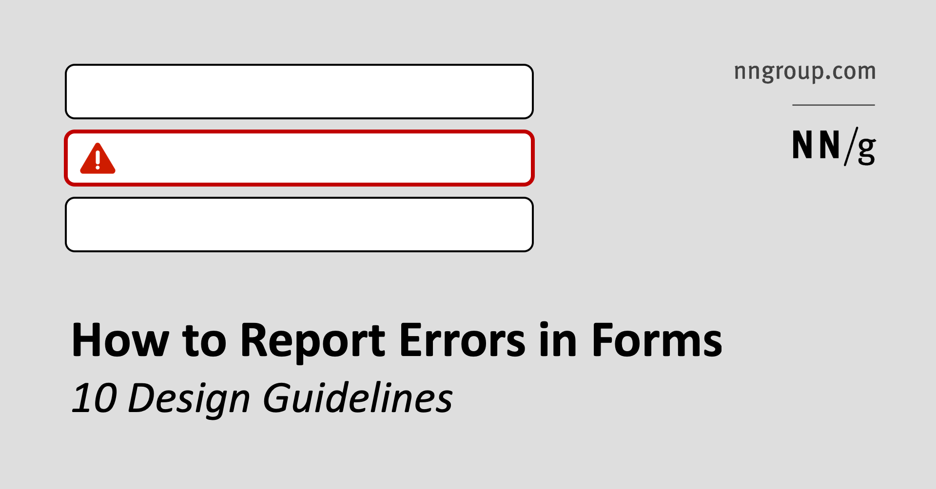 How To Report Errors In Forms 10 Design Guidelines