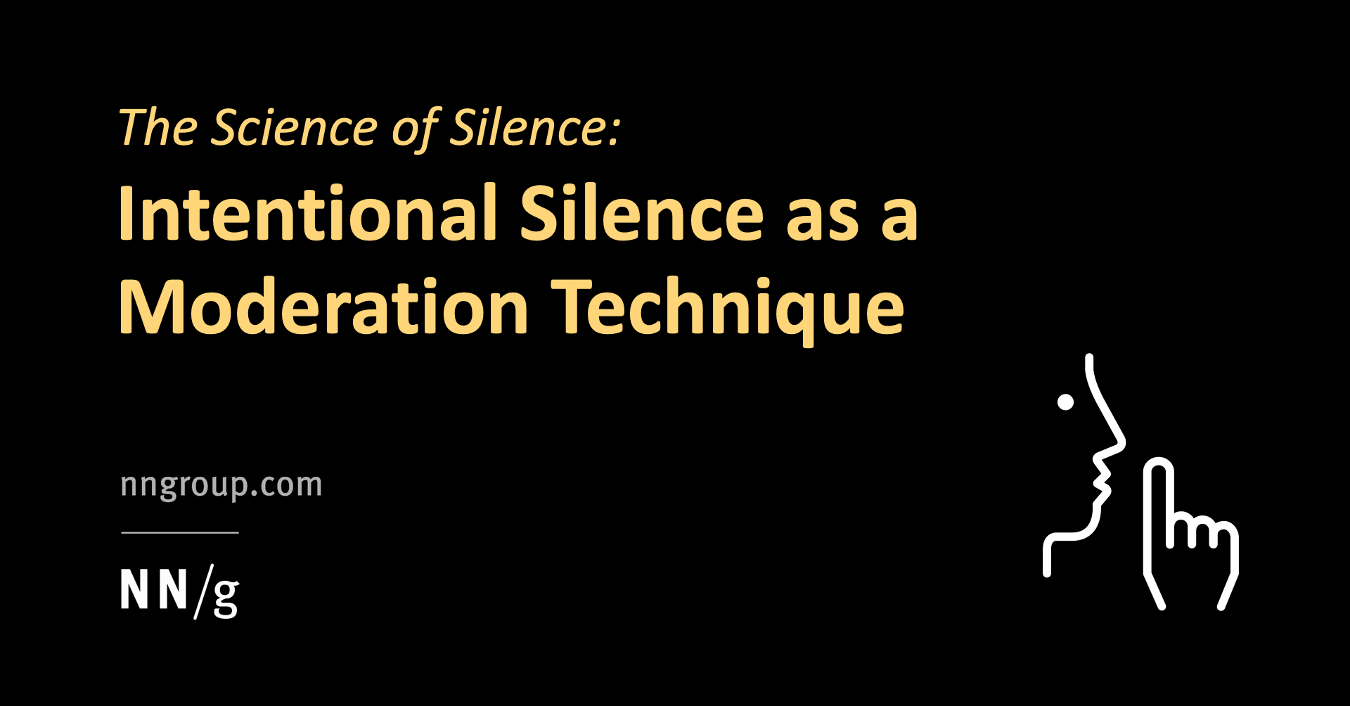 The Science of Silence: Intentional Silence as a Moderation