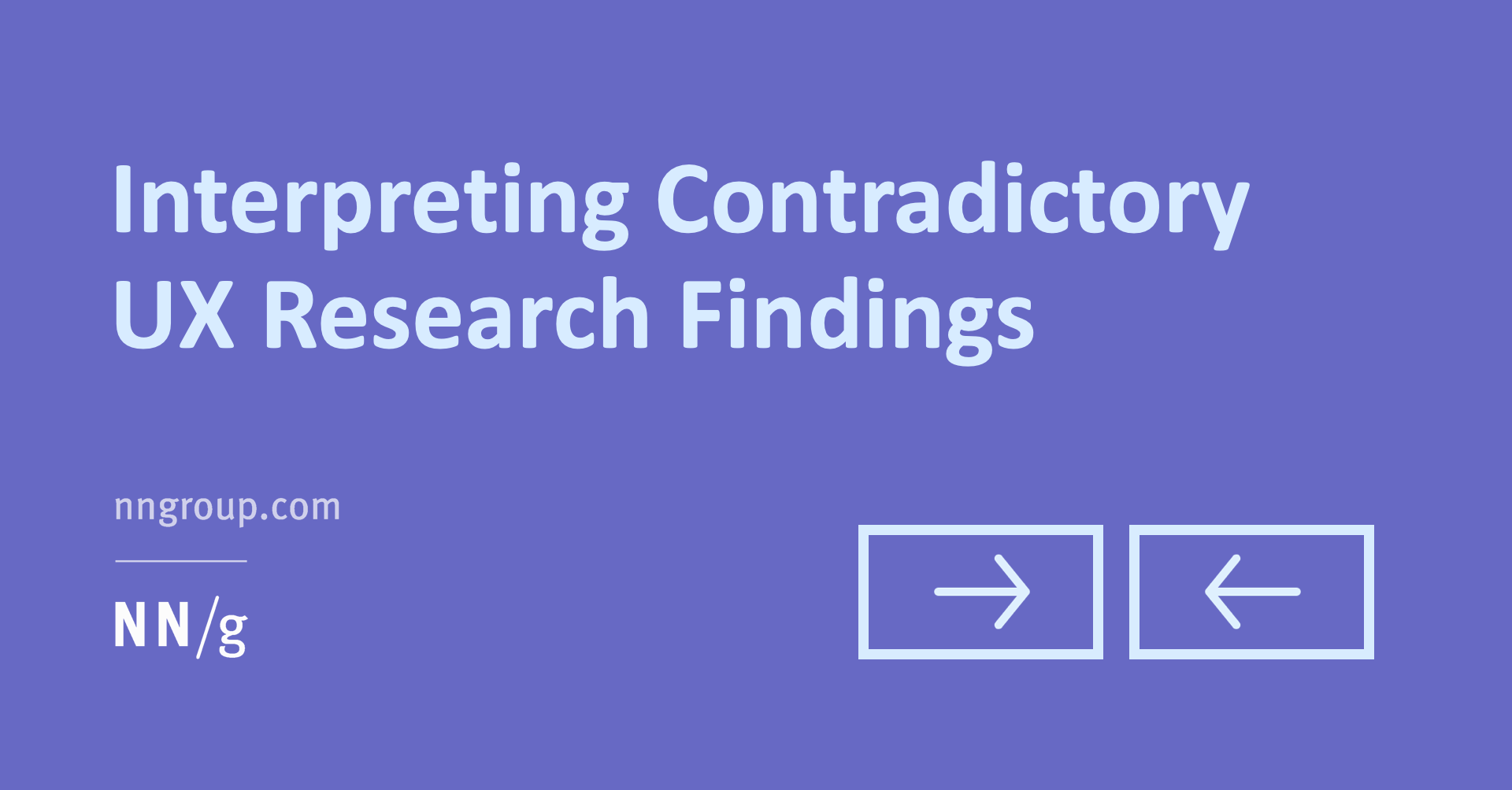 interpreting contradictory ux research findings