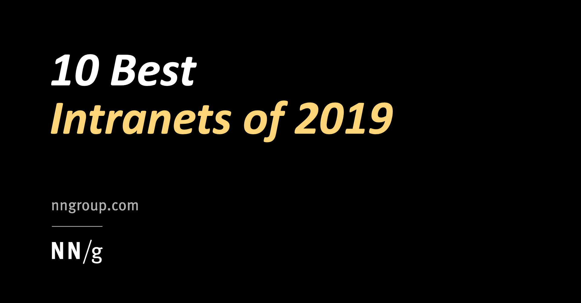 10 Best Intranets of 2019