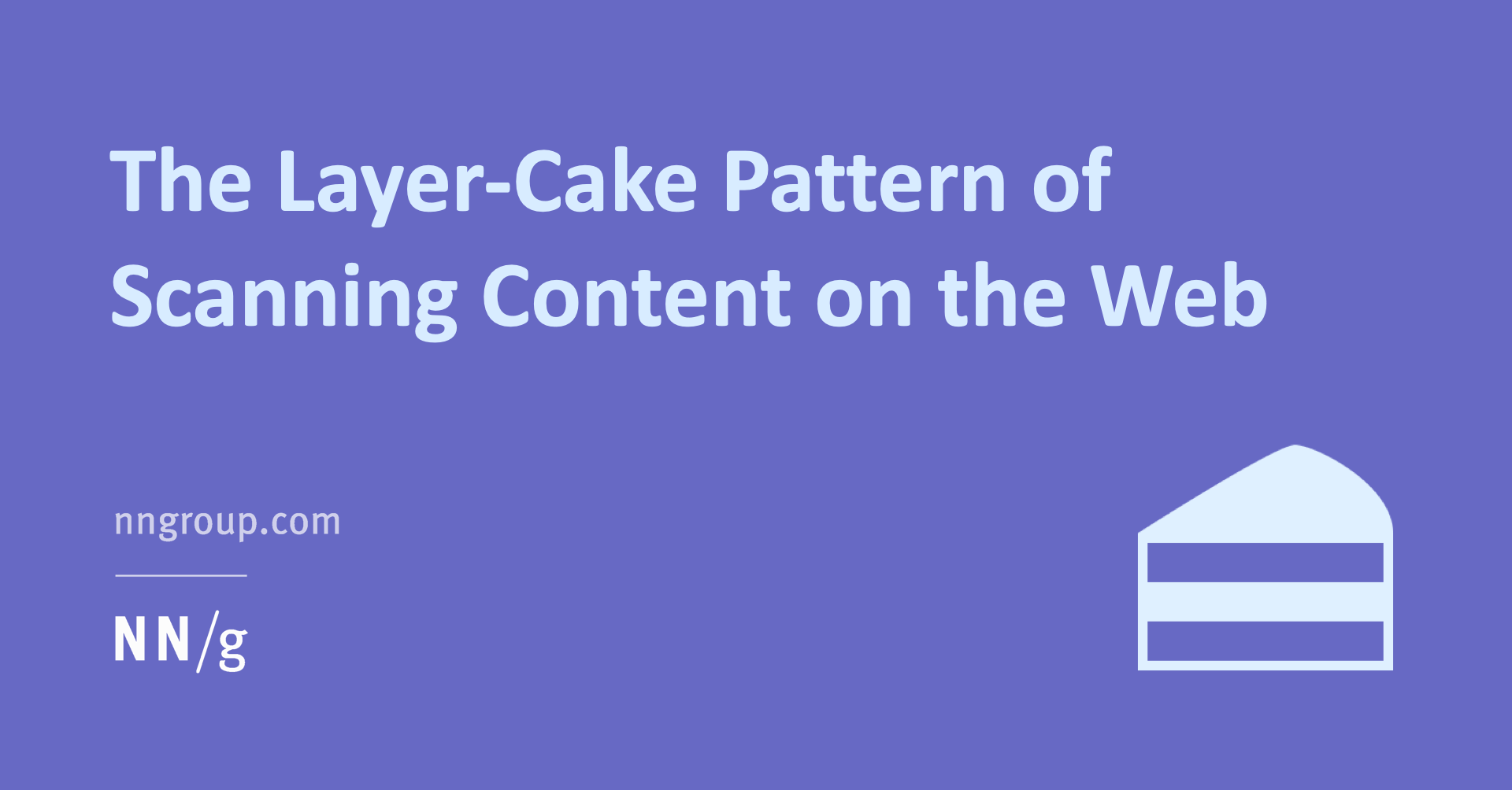 The Layer-Cake Pattern of Scanning Content on the Web