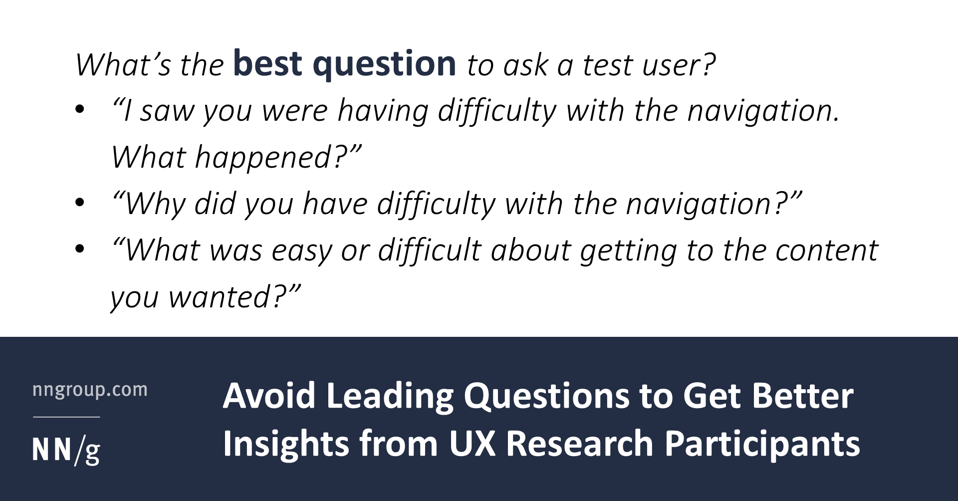 Avoid Leading Questions To Get Better Insights From Participants