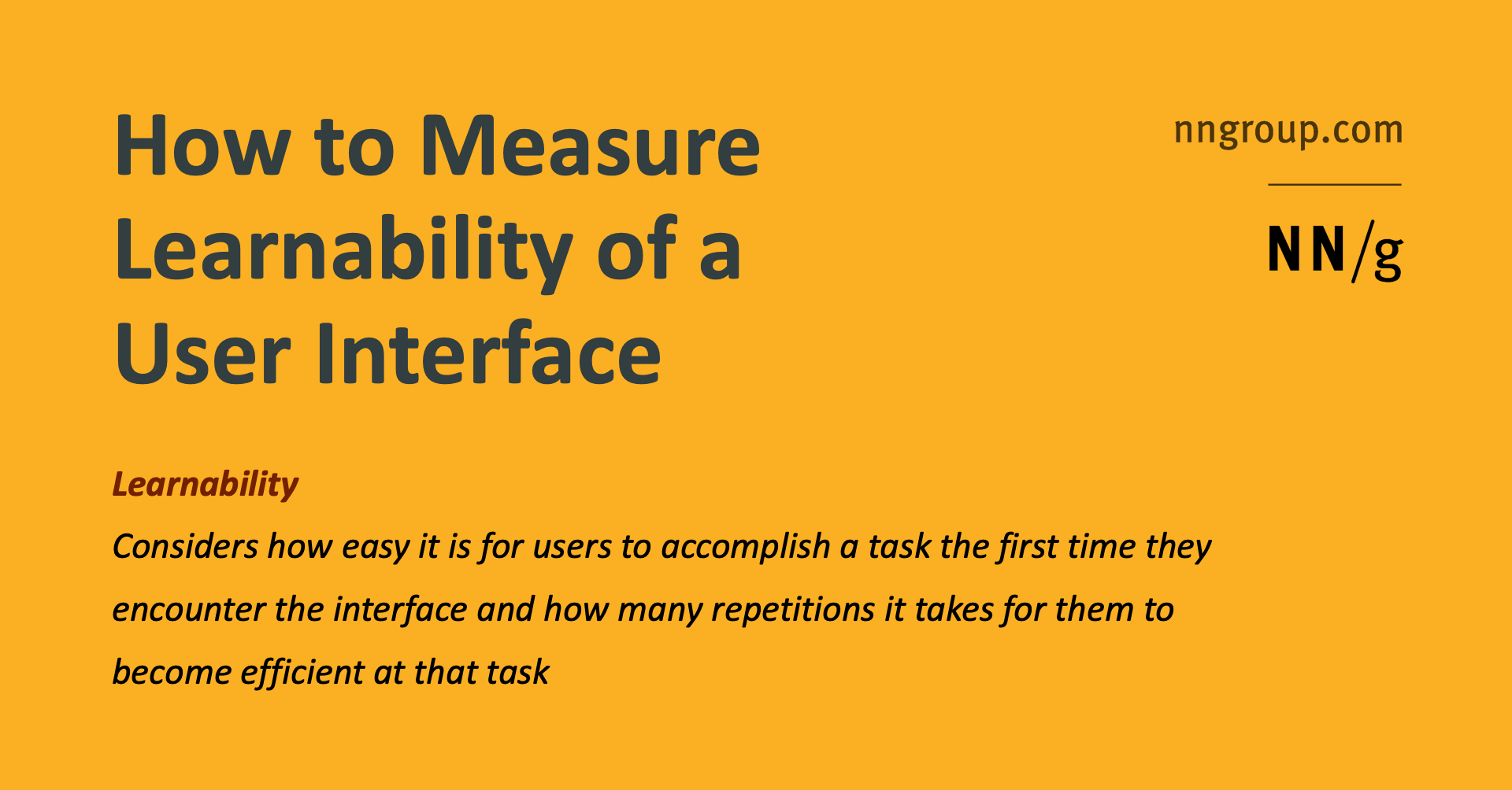 How To Measure Learnability Of A User Interface