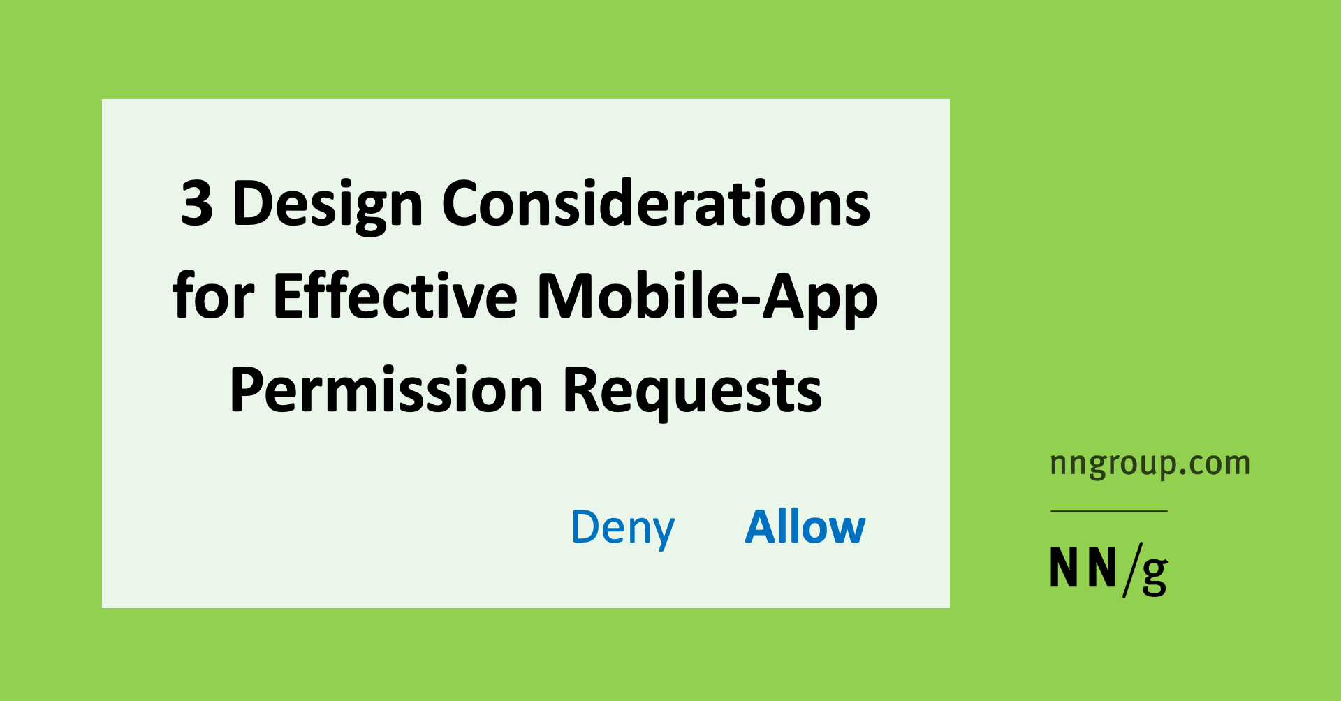 3 Design Considerations for Effective Mobile-App Permission