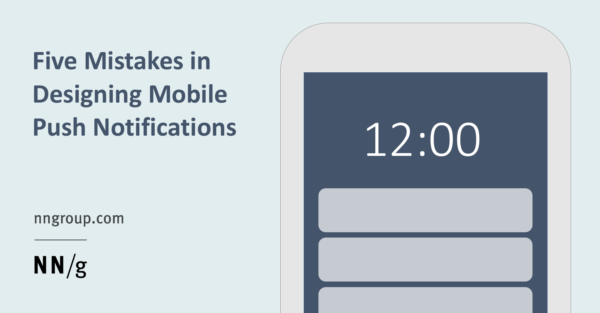 Five Mistakes in Designing Mobile Push Notifications