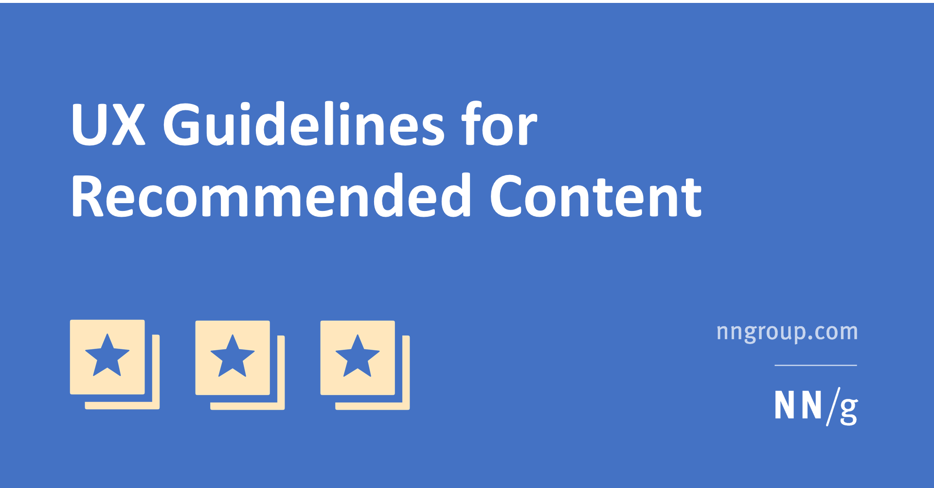 UX Guidelines for Recommended Content