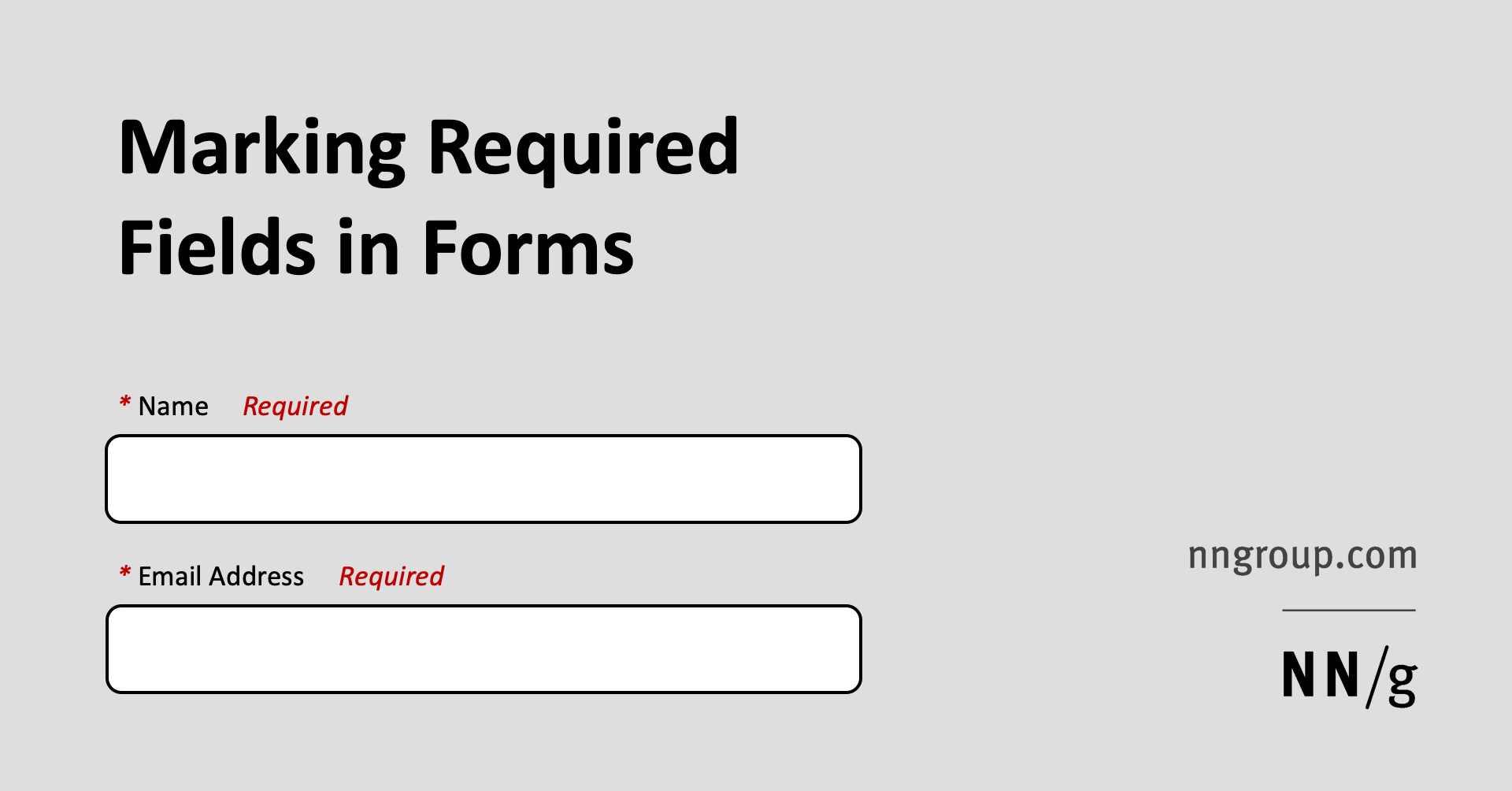 Marking Required Fields in Forms