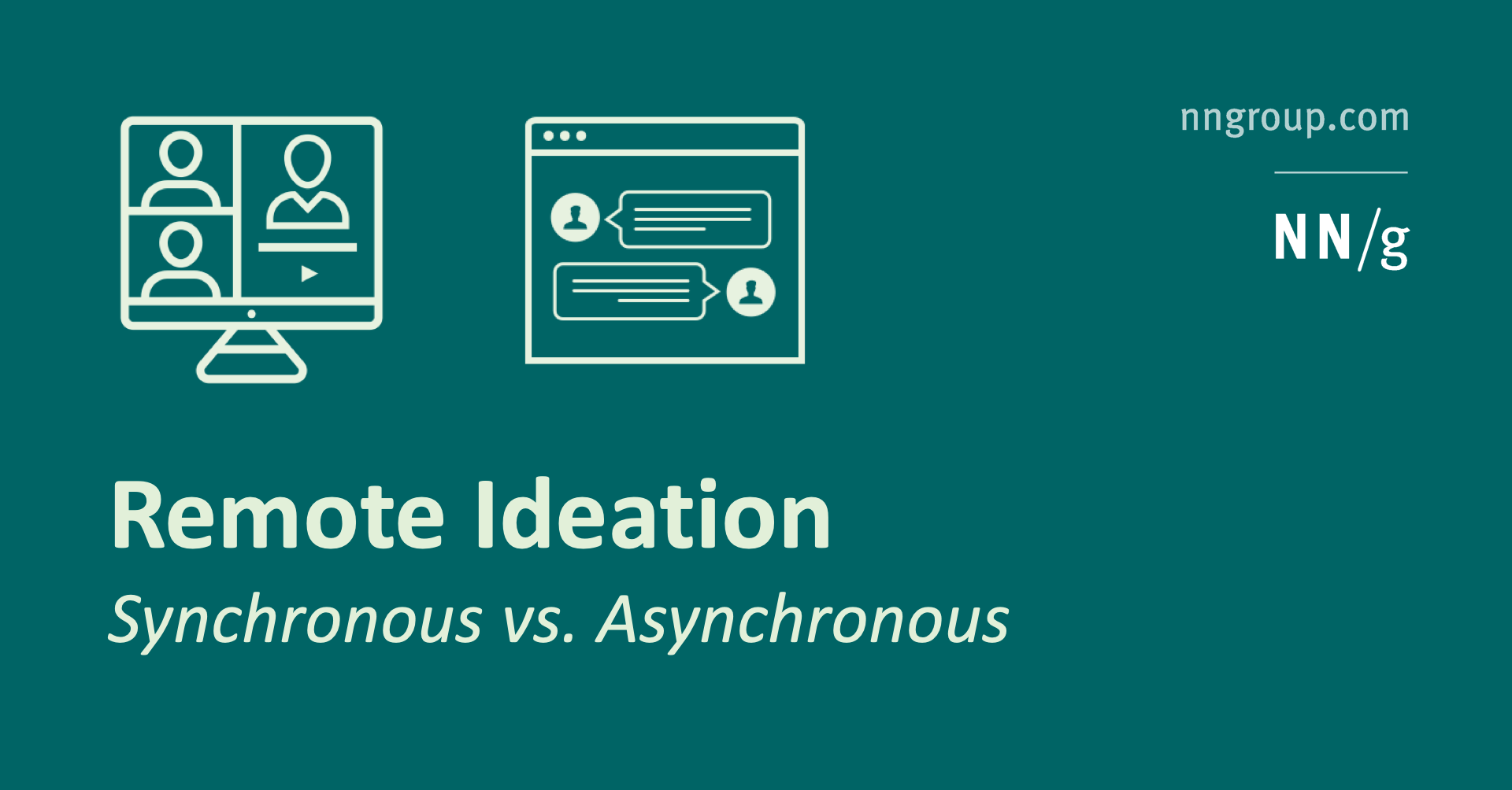 Remote Ideation: Synchronous vs. Asynchronous