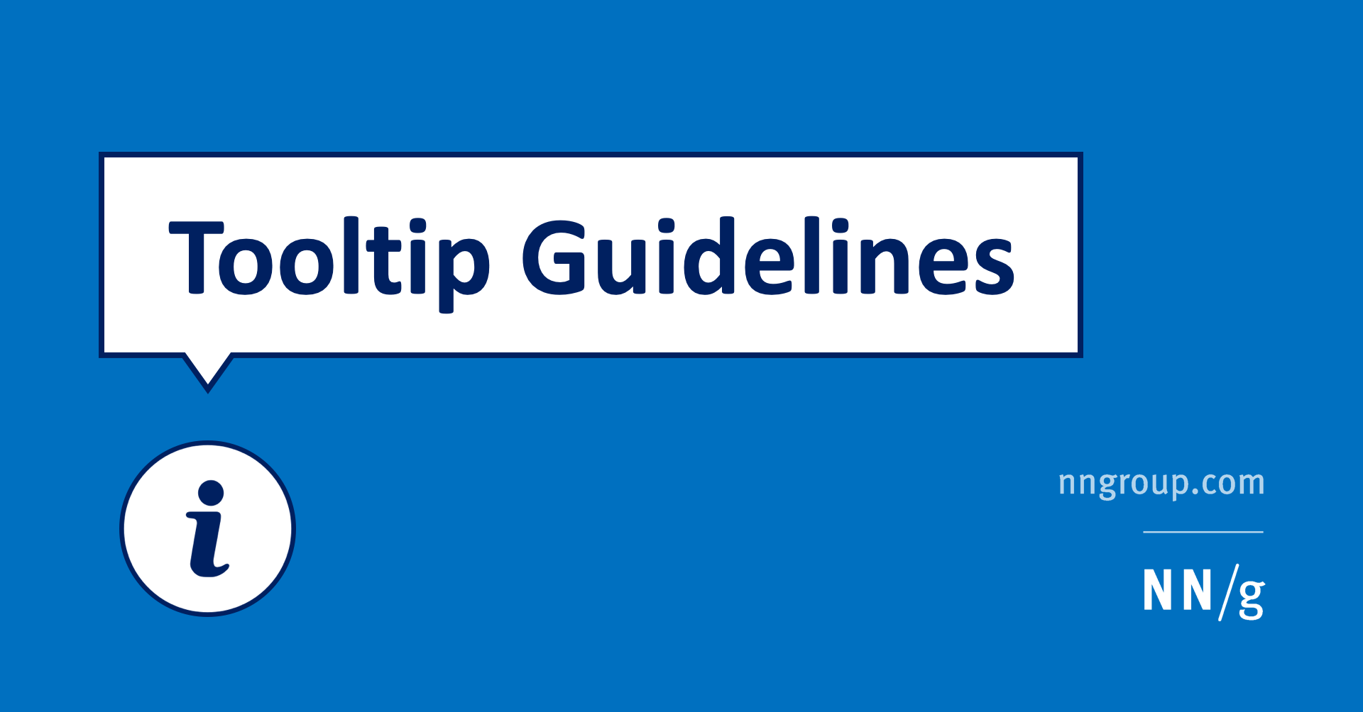 Tooltip Guidelines