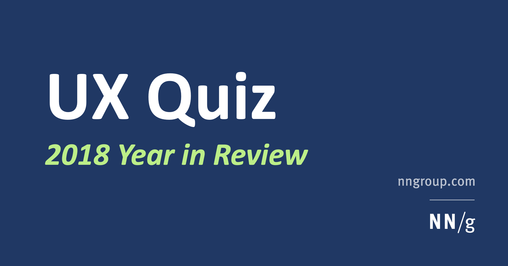 User-Experience Quiz