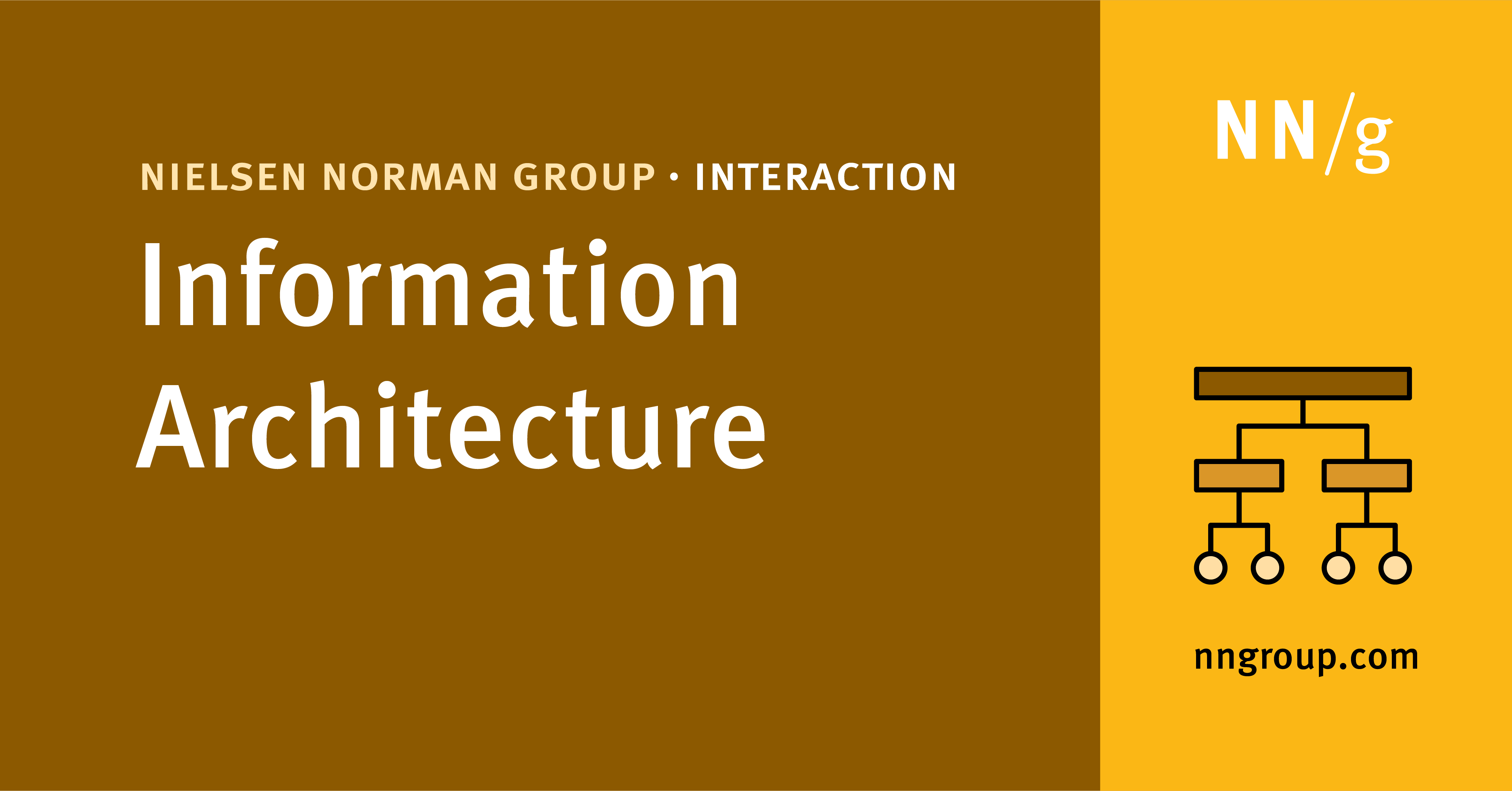 Information Architecture   Full Day UX Training by NN/g