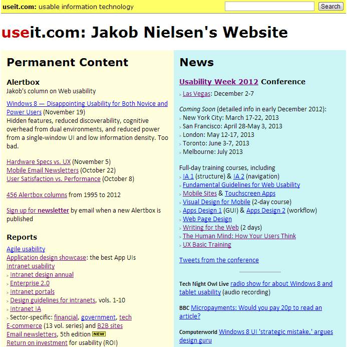 Screenshot of Useit.com on November 28, 2012