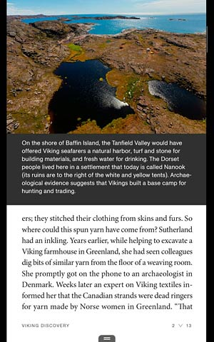 Kindle Fire HD screenshot: National Geographic app on the 7-inch tablet.
