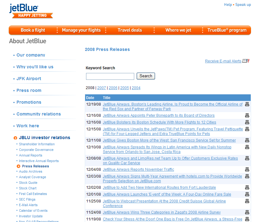 jetblue: delighting customers through happy jetting essay Customer feedback email marketing, part 2 find this pin and more on websites by daniellehuthart  email is a shrewd choice when it comes to marketing your business.