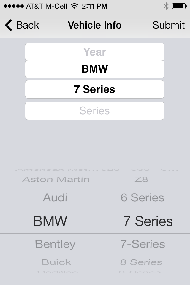 iOS 7 Picker as used by Mobile Inspect
