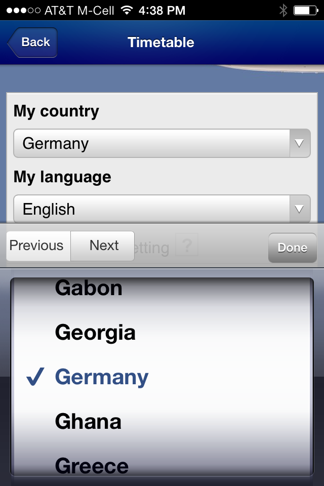 iOS6 picker in Lufthansa