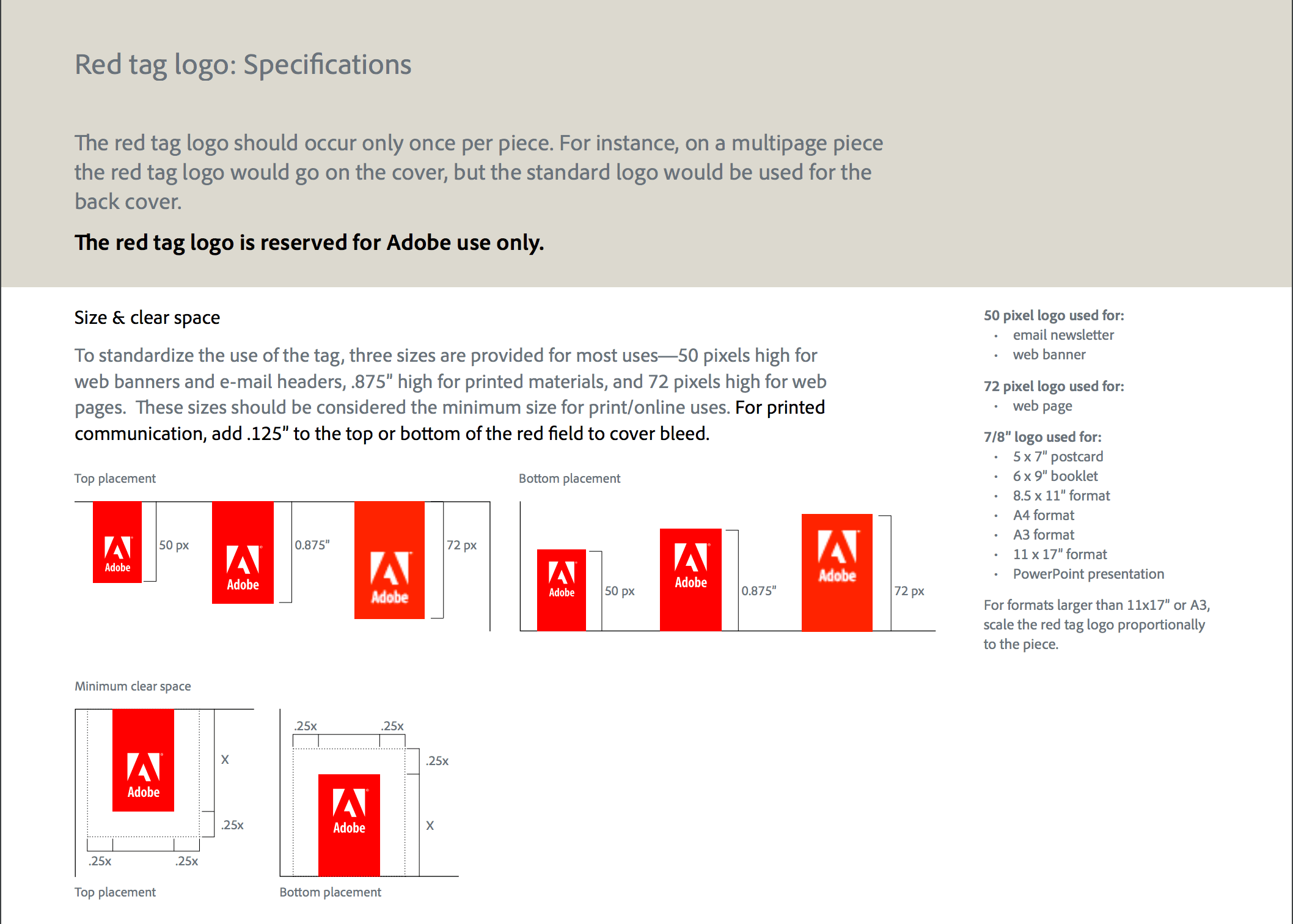 Adobe Corporate Branding Guidelines Screenshot