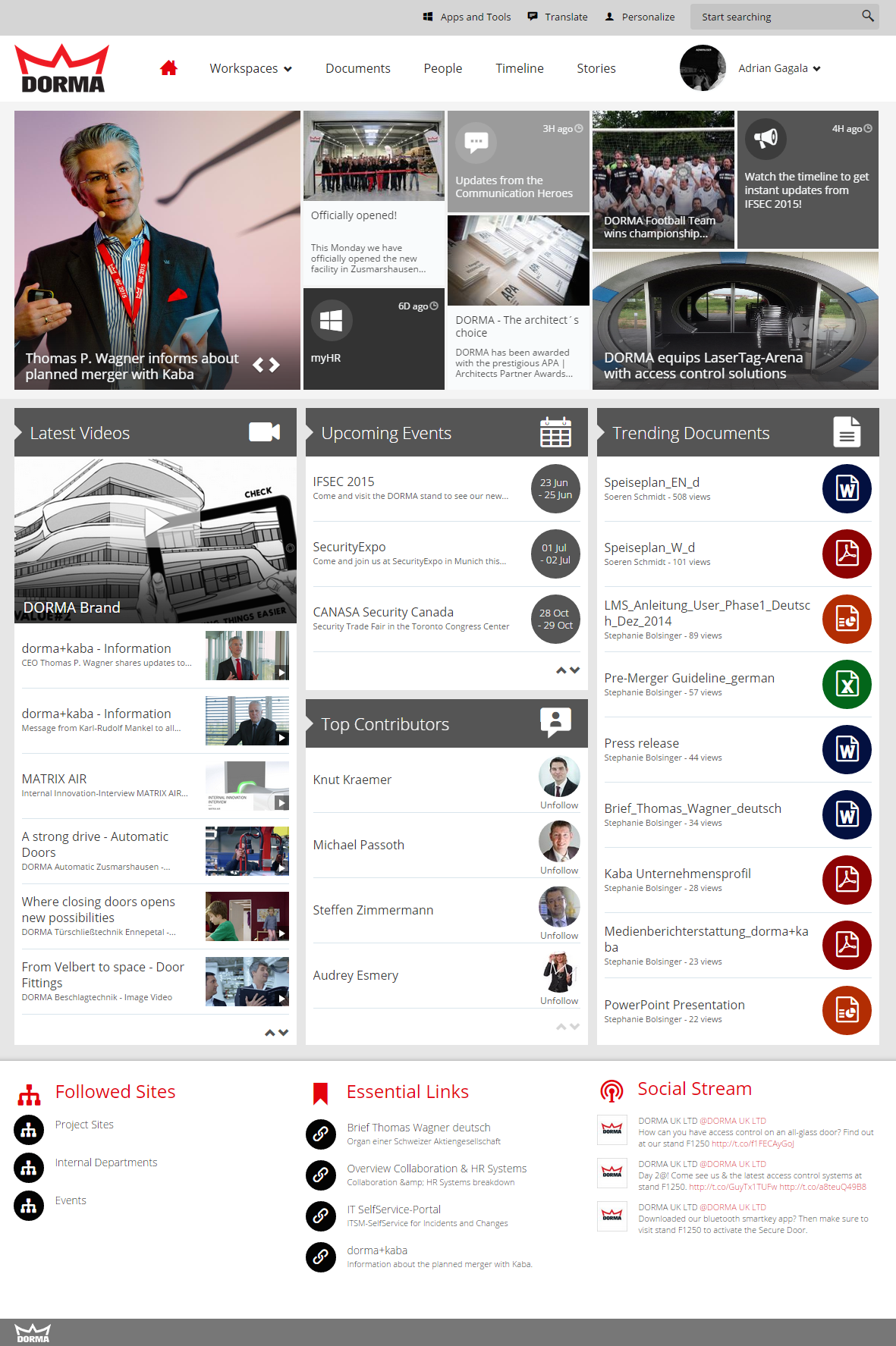 simple minimalist looking design - Intranet Design Ideas