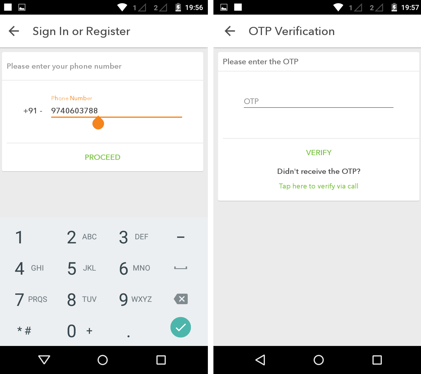 how to change otp mobile number