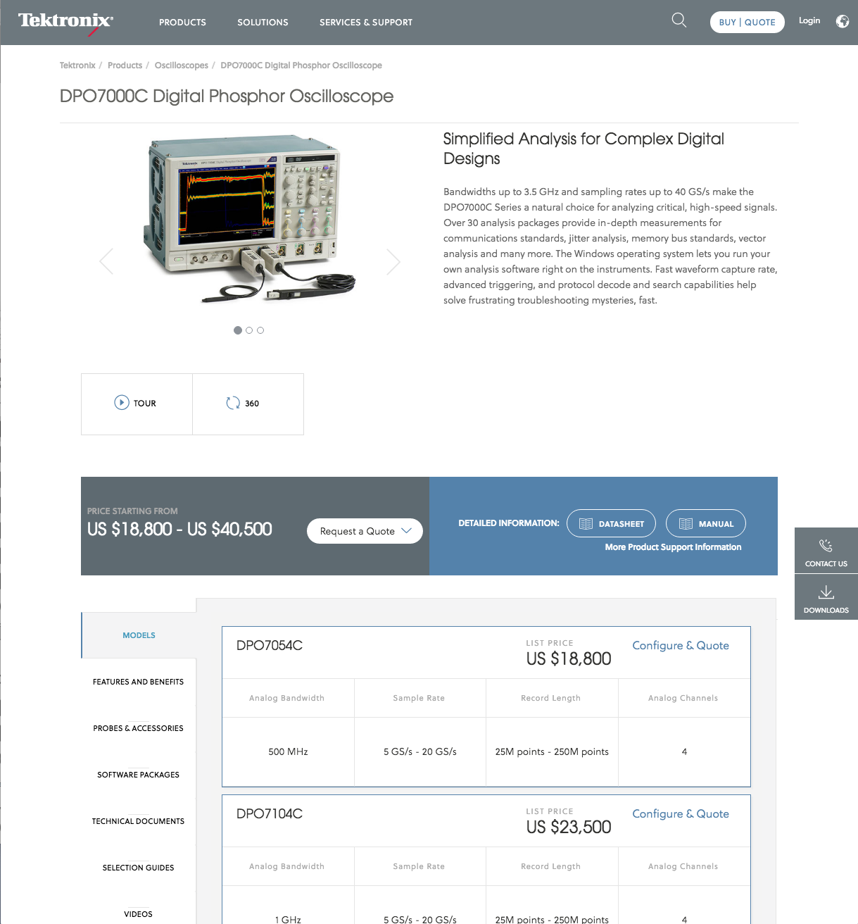 International Tektronix Site