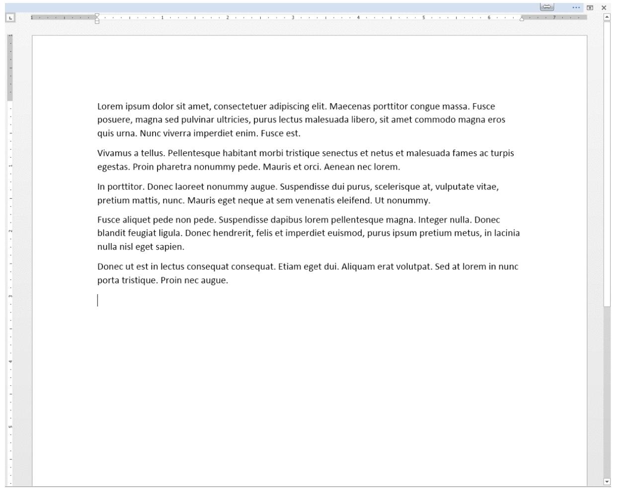 """Microsoft Word允许用户在不使用时""""自动隐藏""""工具功能区,创造一个无干扰的工作空间。"""