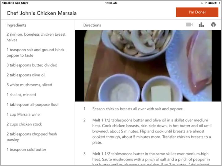 食谱iPad