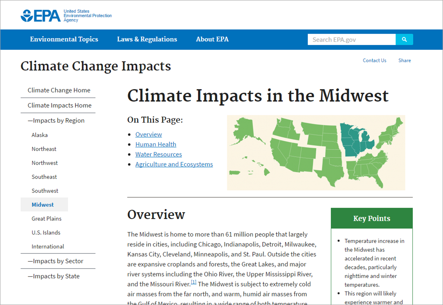 The In Page Links At The Top Of This Epa Gov Page Are Labeled On This Page To Clarify How The Links Will Function