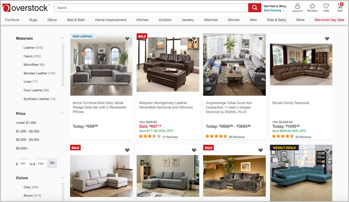 overstock product grid - Furniture Design Online