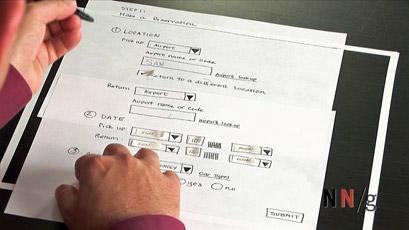 低保真纸张原型