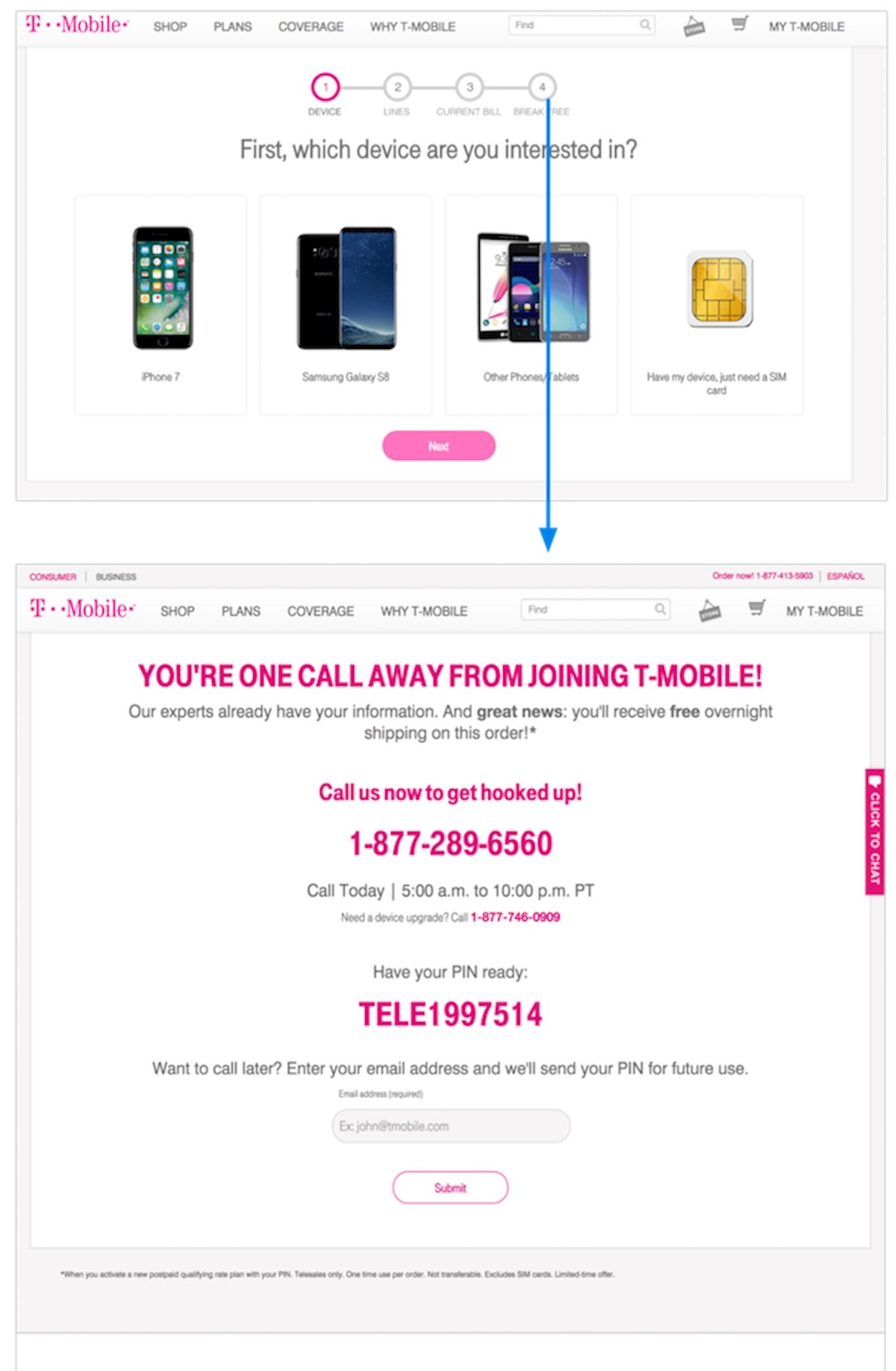 T-Mobile:切换测验