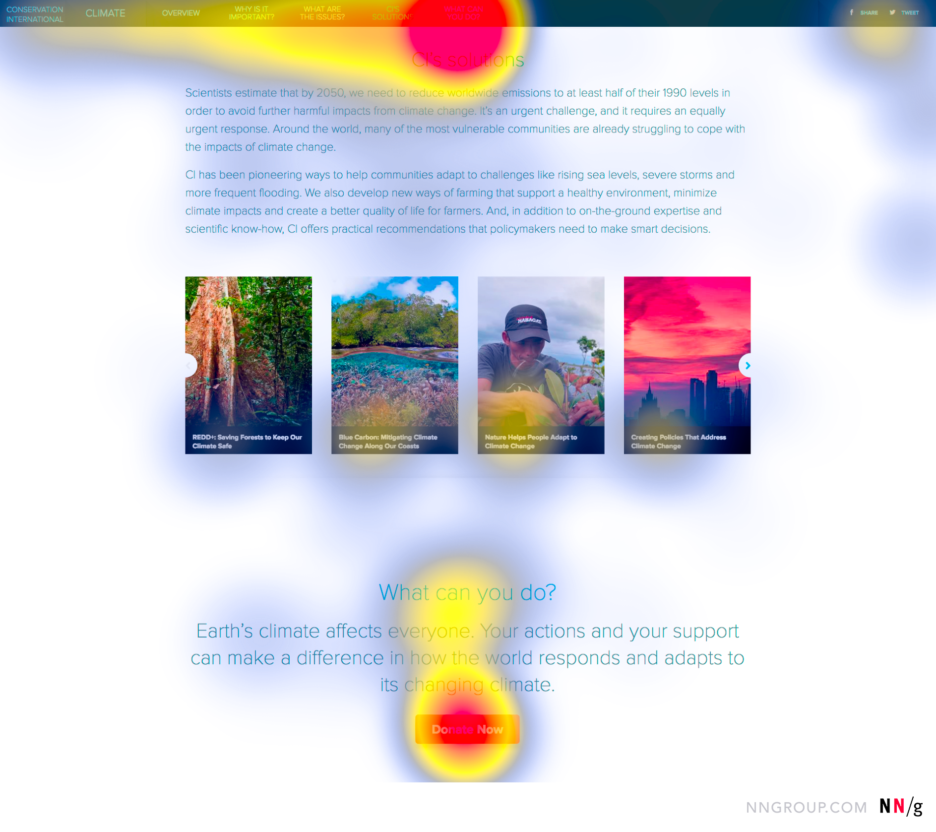 Heatmap Visualizations from Signifier Eyetracking Experiment