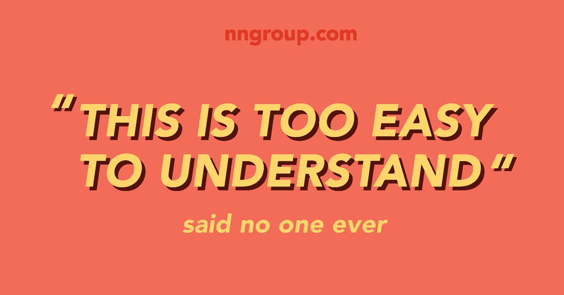 """""""Это слишком легко понять"""", - сказал никто никогда"""