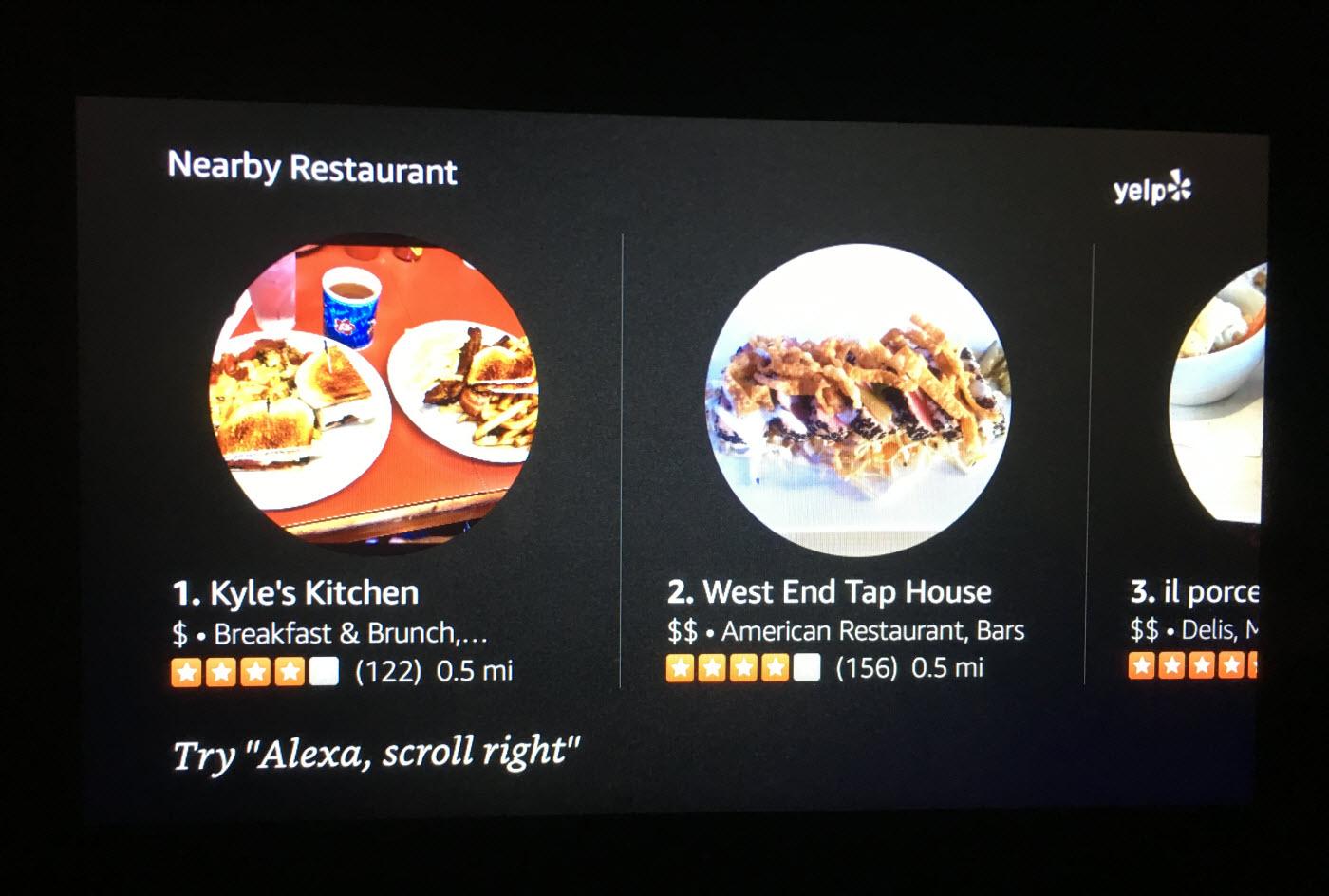Echo Show interface