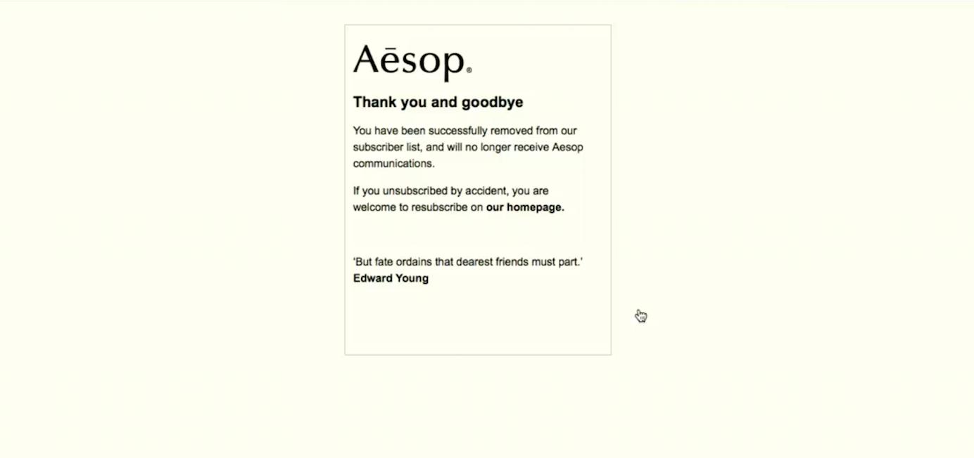 AesopUnsubscribe