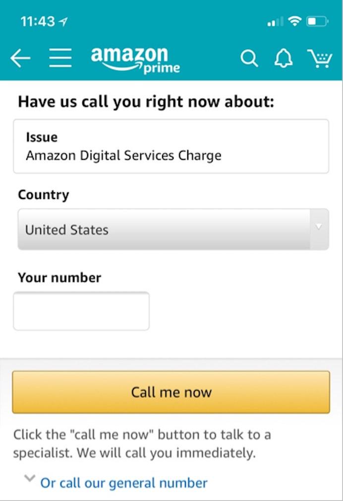 Amazon Contact Mobile