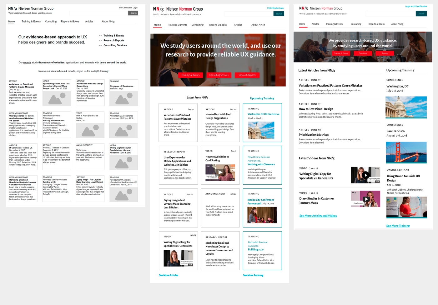 Case Study: Iterative Design and Prototype Testing of the NN/g Homepage