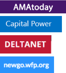 Four intranet logos show the intranet names--AMAtoday, Capital Power, DELTANET, and newgo.wfp.org--each on different colored background.